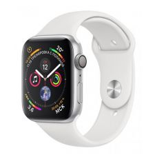Apple Watch Series 4 GPS 40mm Silver Aluminum Case with White Sport Band (Серебристый / Белый)
