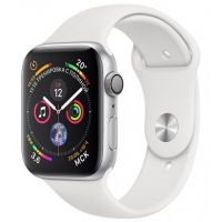 Apple Watch Series 4 GPS 44mm Silver Aluminum Case with White Sport Band (Серебристый / Белый)