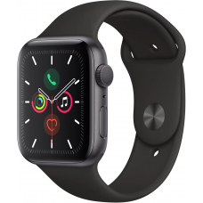 Apple Watch Series 5 GPS 44mm Aluminum Case with Sport Band Space Grey (Серый Космос/Чёрный)