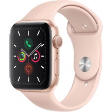 Apple Watch Series 5 GPS 44mm Aluminum Case with Sport Band Gold (Золотистый/Розовый Песок)