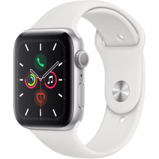 Apple Watch Series 5 GPS 44mm Aluminum Case with Sport Band Silver (Серебристый/Белый)