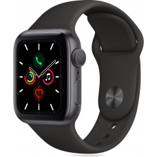 Apple Watch Series 5 GPS 40mm Aluminum Case with Sport Band Space Grey (Серый Космос/Чёрный)