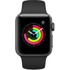 Apple Watch Series 3 42mm Aluminum Case with Sport Band Black (Серый космос/Черный)